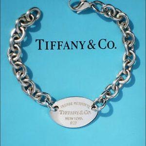 Return to Tiffany oval tag bracelet 7.5 inch